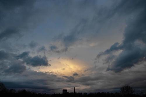 Nördliche Wolkensonne, 03.02.2021, 18.13