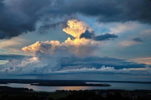 Wolken-Posing über dem Chiemsee, 25.06.2021