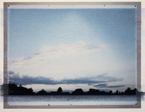 Stefan Kaiser, Abendhimmel mit Wolkenbändern, 2013, 70x90, Fotografie und Zeichnung