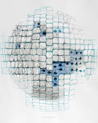 Stefan Kaiser, Bisher, 2011. Bleistift, Aquarell, 100 x 78,5 cm