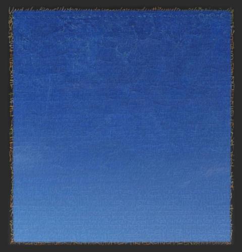 Stefan Kaiser, Die Farben des Himmels -Blau, 2017, 38 x 36,5 cm, Digitaldruck auf Papier und Alu-Dibond