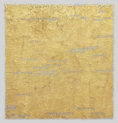Stefan Kaiser, Die Farben des Himmels -Gold, 2017, 38 x 36,5 cm, Digitaldruck auf Papier und Alu-Dibond