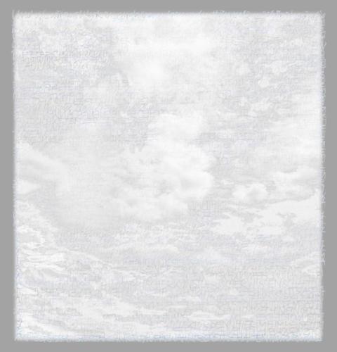 Stefan Kaiser, Die Farben des Himmels -Weiß, 2017, 38 x 36,5 cm, Digitaldruck auf Papier und Alu-Dibond
