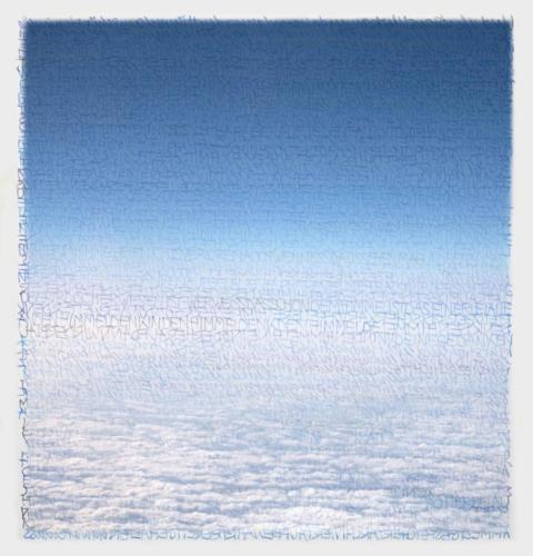 Stefan Kaiser, Die Farben des Himmels -über den Wolken, 2017, 38 x 36,5 cm, Digitaldruck auf Papier und Alu-Dibond