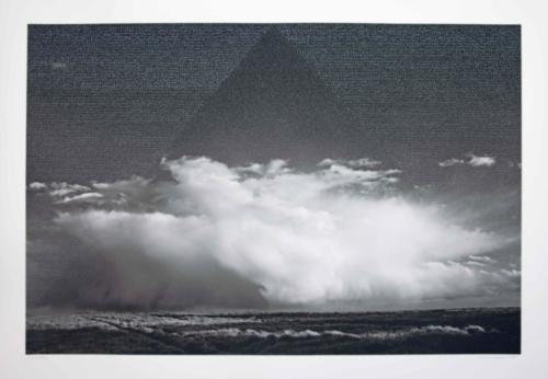 Stefan Kaiser, Die Wolke, 2017, 70 x 105 cm, Fotografie und Zeichnung
