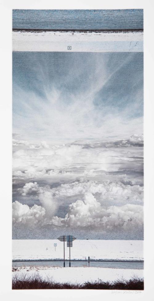 Stefan Kaiser, Die vier Vögel, 2014, 84,5 x 40 cm, Fotografie und Zeichnung, Privatbesitz