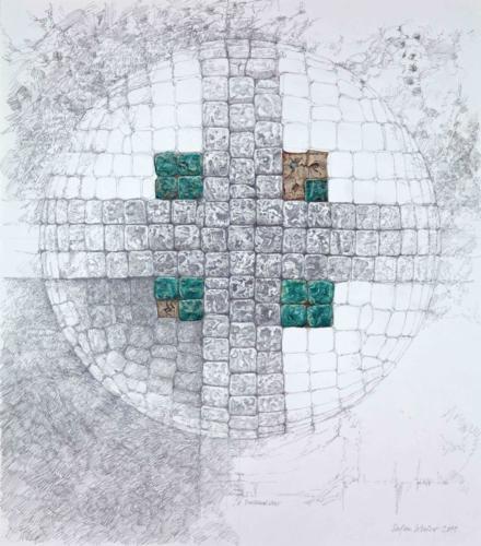 Stefan Kaiser, Dreimalvier, 2011, Bleistift, Farbstift, 80x70