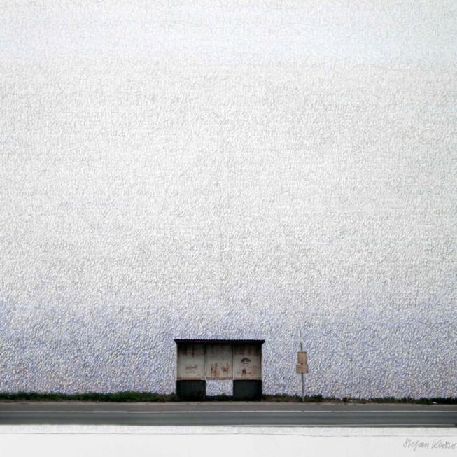 Stefan Kaiser, Haltstelle II, 2013, 90 x 79 cm, Fotografie und Zeichnung, Privatbesitz