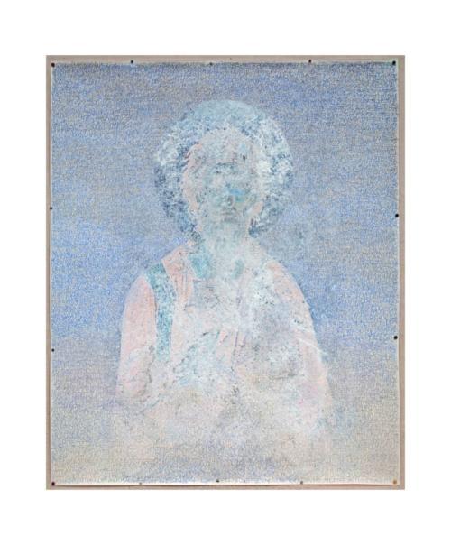 Stefan Kaiser, Himmel mit unbekanntem Heiligen, 2012, Fotografie und Zeichnung, 120 x 90 cm, Privatbesitz
