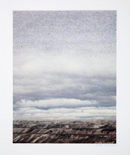 Stefan Kaiser, Himmel über Königshoven, 2015, Fotografie, Farbstift, 50,5 x 39,5 cm