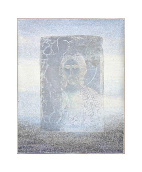 Stefan Kaiser, Himmelfahrtsversuch, 2012, 120 x 90 cm, Fotografie und Zeichnung, Privatbesitz