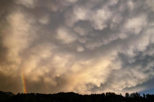 Mammatus im Abendlicht 27.06.2021