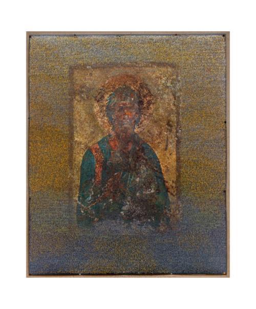 Stefan Kaiser, Nächtlicher Himmel mit unbekanntem Heiligem, 2012, 120 x 90 cm, Fotografie und Zeichnung
