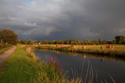 Niers bei Wachtendonk mit abziehendem Unwetter II 27.07.2017