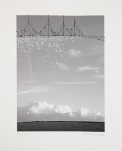 Stefan Kaiser, Regenbrücke, 2016, 37 x 28, Fotografie, Zeichnung, Eisendraht
