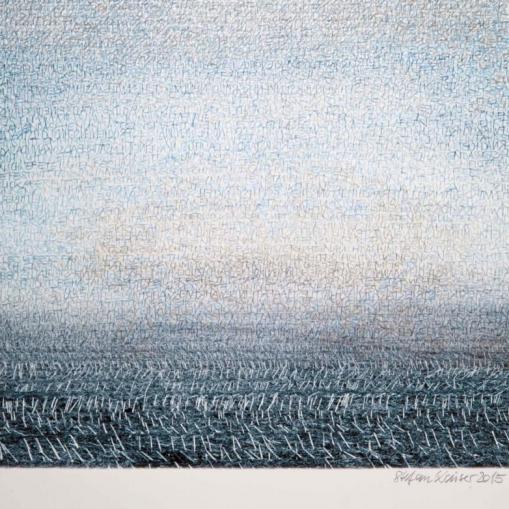 Stefan Kaiser, Schrift-Feld,2015,50,5 x 37cm, Fotografie und Zeichnung