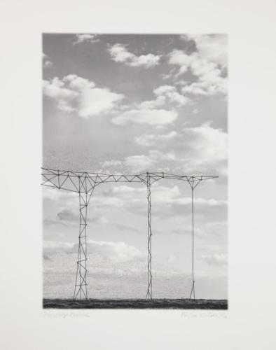 Stefan Kaiser, Schwierige Brücke, 2016, 38 x 25,5 cm, Fotografie, Zeichnung, Eisendraht