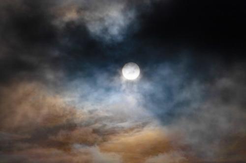 Sonne in bunte Wolken, 22.01.2021