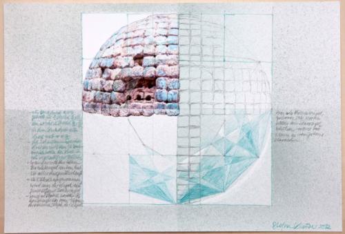 Stefan Kaiser, Als Smaragd blühen, 2012, Fotografie, Farbstift, Aquarell, 33 x 48 cm