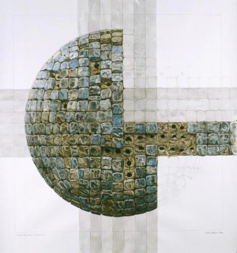 Stefan Kaiser, Fragmentarisches Universum, 2006, 82 x 77 cm, Privatbesitz
