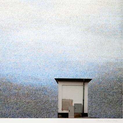 Stefan Kaiser, Himmel über der Brasselstraße, 2012, Fotografie und Zeichnung