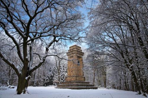 Viersen, Bismarckturm im Schnee 31.01.2019