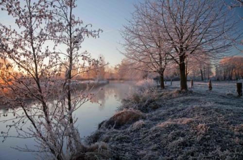 Winter-Niers bei Sonnenaufgang 04.12.2016