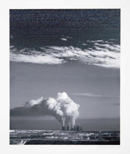 Stefan Kaiser, Wolken machen, 2015, Fotografie, Farbstisft, 52 x 42,5 cm