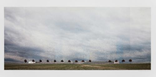 Stefan Kaiser, Landschaft 2 bis 3, 2016, 50,5 x 118 cm, Fotografie und Zeichnung